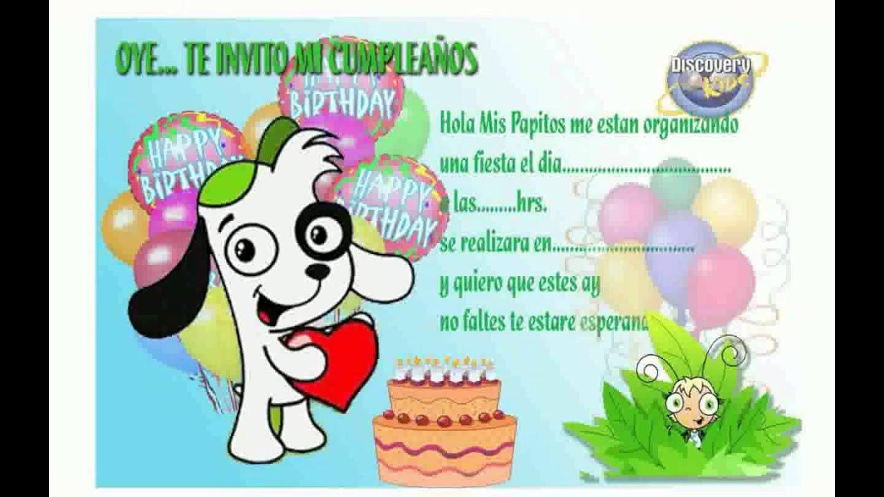 Invitaciones De Cumpleaños De Niños Youtube