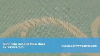 Video Of Sunbrella Cabaret Blue Haze 45099-0003 - Sunbrella Furniture Fabric Cabaret Blue Haze