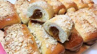 Булочки с Абрикосовым Джемом и Штрейзелем. Простой рецепт.  Buns with apricot jam.