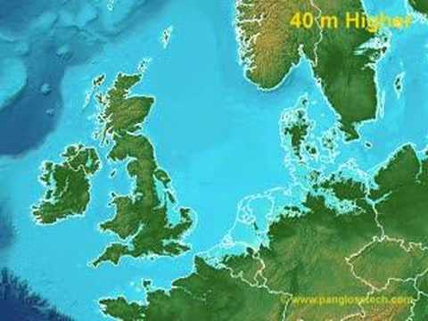 Map Of Uk If Sea Levels Rise.Sea Level Rise In Northern Europe