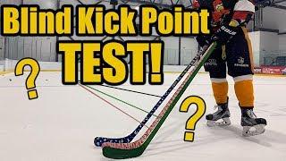 Blind Hockey Stick Kick Point Test - Does stick flex matter