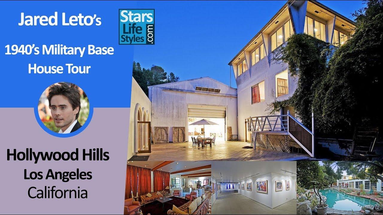Jared Leto's Hollywood Hills House Tour, 1940s Military Base | Los Angeles, California | $5 Million