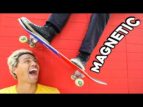 MAGNETIC SKATEBOARD AND SHOES!!!