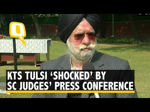 Senior Lawyer KTS Tulsi 'shocked' by Supreme Court judges' Press conference'  The Quint