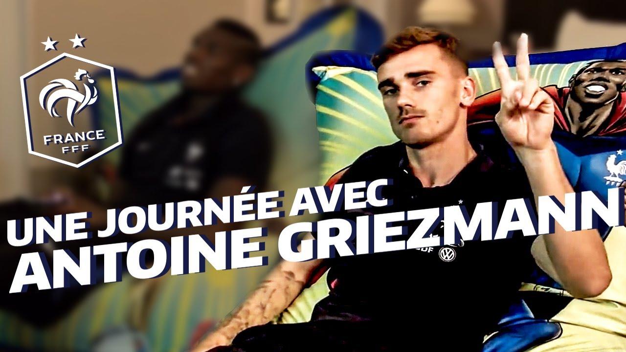 Coloriage Equipe De France Football 2018.Une Journee Avec Antoine Griezmann A Clairefontaine Equipe De