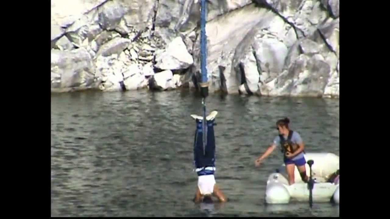 Great Canadian Bungee Jump 200 Ft 5 Dips In The Water