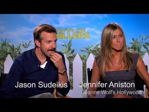 """We're the Millers"" Jennifer Aniston drops her drawers Jason Sudekis watches."