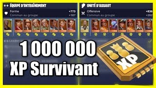 1 MILLION XP DE SURVIVANT + LEVEL 110 + OPENING X6 LAMA ANNIVERSAIRE - FORTNITE SAUVER LE MONDE
