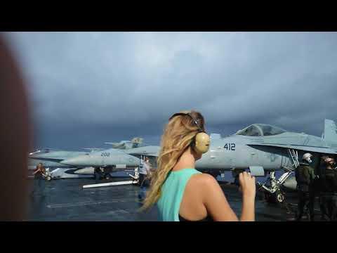 USS Nimitz Tiger Cruise 2017 airshow