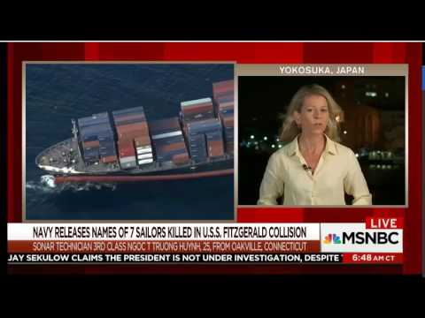 Navy Identifies 7 sailors killed in U.S.S. Fitzgerald Collision