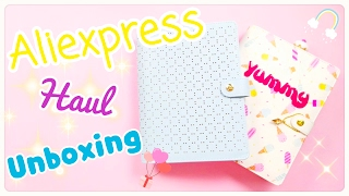 Haul - Unboxing Ordine Aliexpress Agende !!!