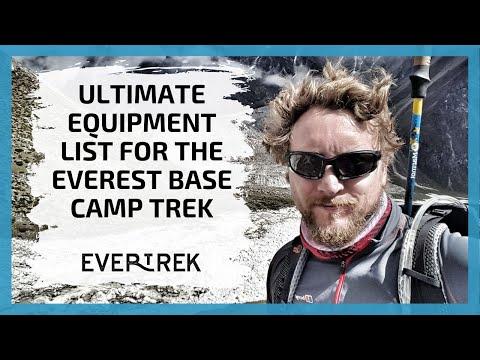 Everest Base Camp Equipment List
