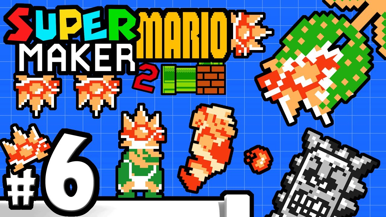 Super Mario Maker 2 Player - Nintendo Switch Gameplay Walkthrough PART 6 -  Mama Spiny & Mr  Eraser
