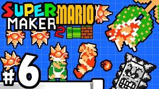 Super Mario Maker 2 Player - Nintendo Switch Gameplay Walkthrough PART 6 - Mama Spiny & Mr. Eraser