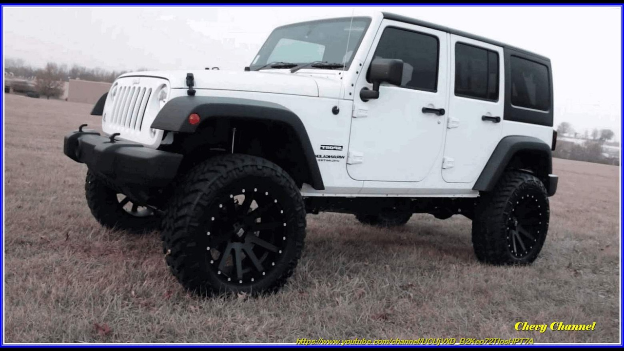 white and black jeep wrangler 4 door off road 4x4s - youtube