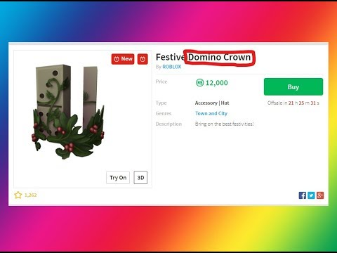 New Festive Domino Crown Is Out Will It Go Limited Roblox