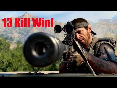Call of Duty Black Ops 4 Blackout: 13 Kill Win *Full Round Gameplay*