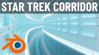 Building a Star Trek Inspired Corridor in Blender