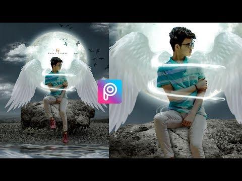 PicsArt Heaven Concept Photo Editing Tutorial   Picsart Wings Photo Editing   Xafar Studio