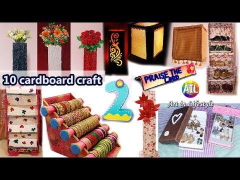 10 Cardboard craft Ideas #DIY Projects #ReUse Cardboard Boxes
