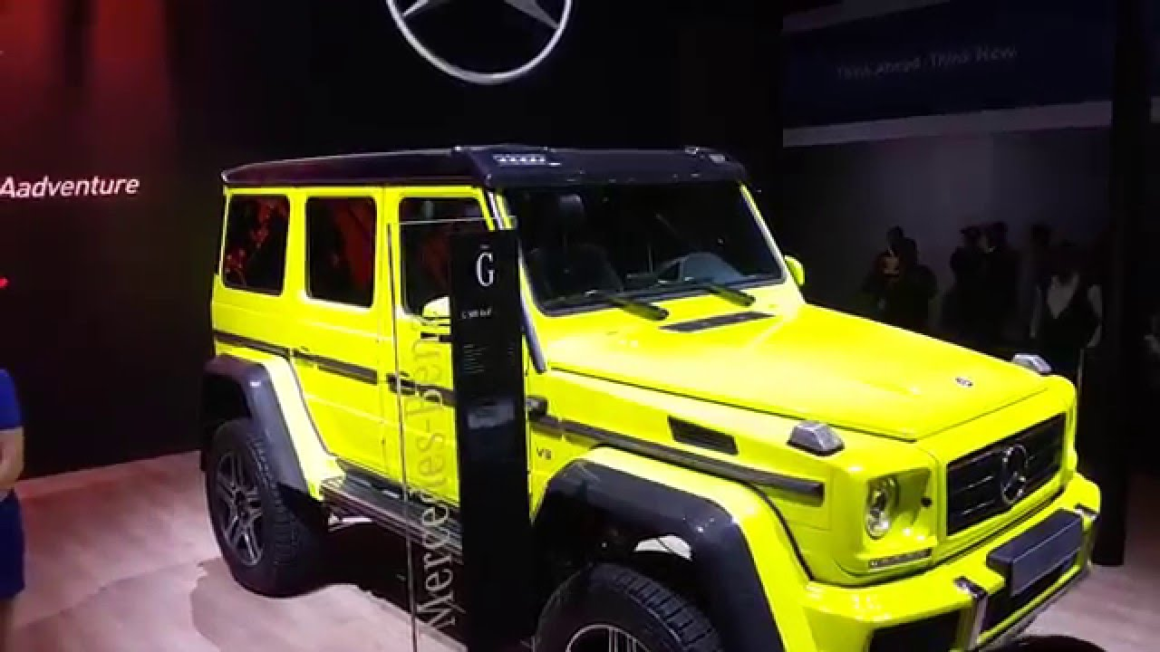 mercedes g500 4x4 offroader suv auto expo 2016 greater noida india youtube. Black Bedroom Furniture Sets. Home Design Ideas