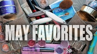 MAY FAVORITES | GlamLifeGuru, mud mask, bronzer, lip gloss, mascara, lash curler, beauty, skincare