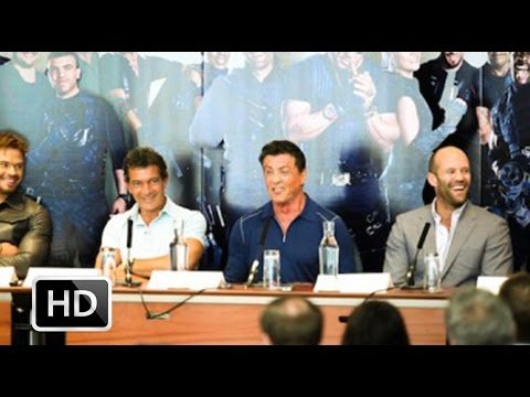 The Expendables 3 press conference: Stallone, Statham, Snipes, Banderas, Lutz, Lerner