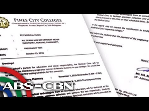Dateline Philippines: CHED Legal Team Looking Into Baguio College's Mandatory Pregnancy Test