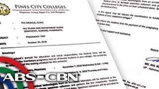 Dateline Philippines: CHED legal team looking into Baguio college\'s mandatory pregnancy test