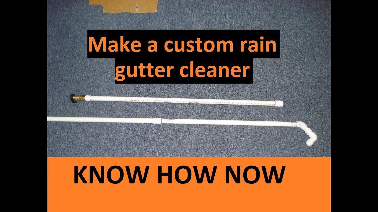 Rain Gutter Cleaning Tool DIY