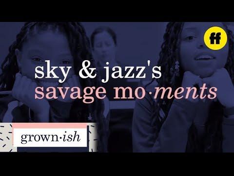 grown-ish | sky and jazz's savage moments | freeform