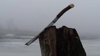 Нож - Меч из рессоры. Изготовление и особенности закалки.