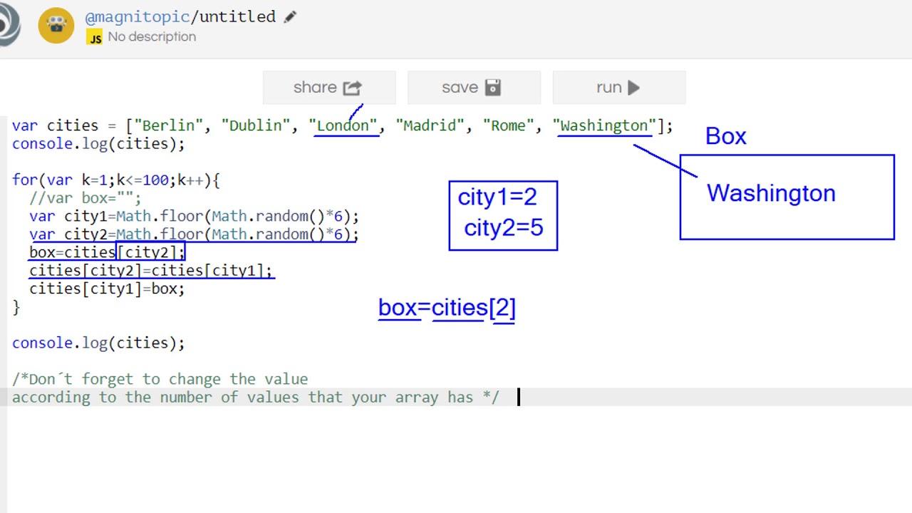 Shuffle An Array In Java Script