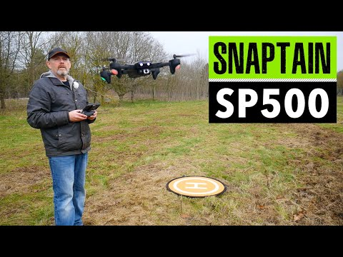 Snaptain SP500 foldable drone with GPS - review and flight footage