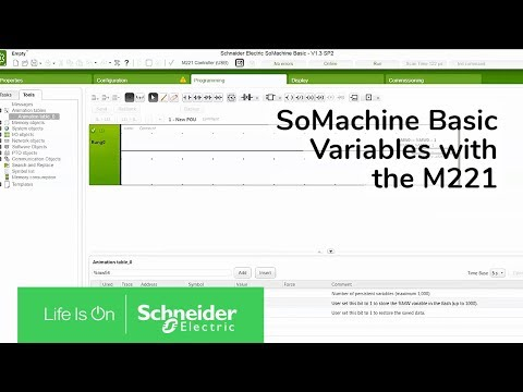 Setting Persistent Variables with the M221 in SoMachine