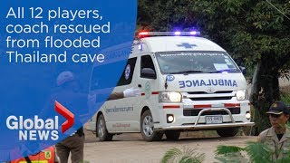 All 12 boys, coach freed from Thailand cave