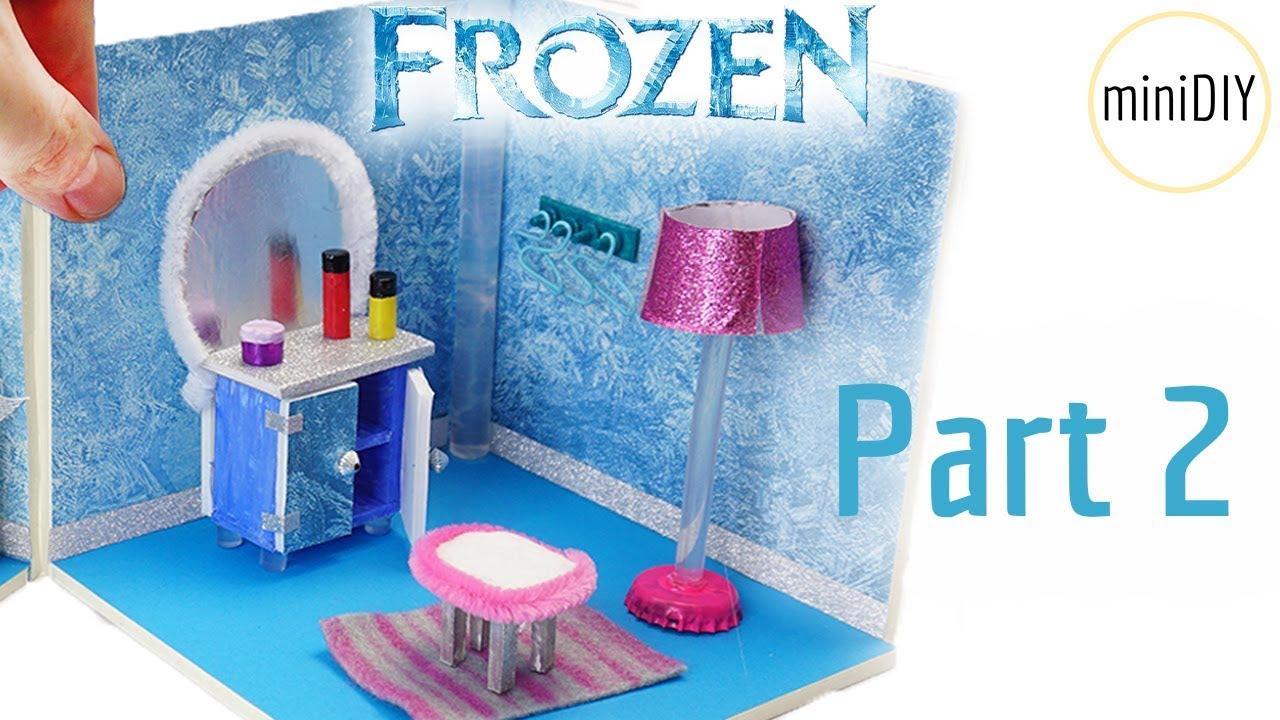 DIY Miniature Dollhouse Bedroom I FROZEN Part 2