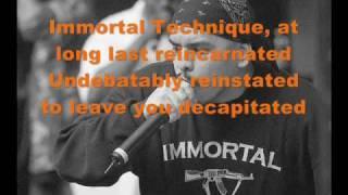 Immortal Technique - Creation & Destruction Lyrics