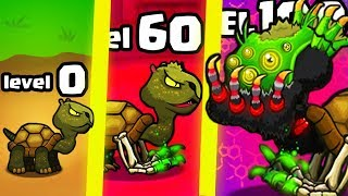 IS THIS THE STRONGEST HIGHEST LEVEL TURTLE MUTANT EVOLUTION? (1000+ UPGRADE) l Mutant Fighting Cup 2