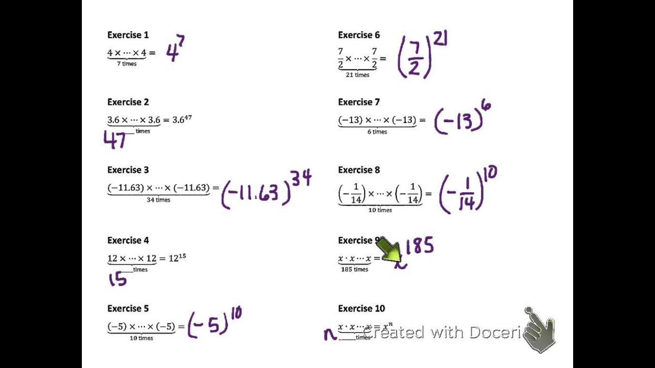 8th Grade Math Module 1 Lesson 1 V 3