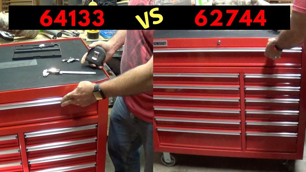 44 inch harbor freight tool box comparison youtube. Black Bedroom Furniture Sets. Home Design Ideas