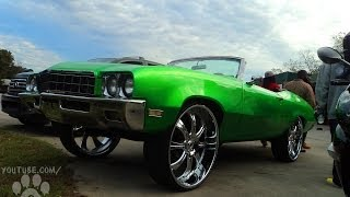 "Candy Green Buick Skylark on 28"" Asanti at SC State Homecoming"