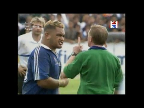 Trevor Leota straight red card vs France 1999
