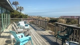 Folly Beach Vacation Ocean Front Rental VRBO 917 East Arctic Ave Inherit The Wind 843-580-3731