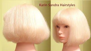 Bob haircut tutorial with layers & Bangs | Short graduated Bob haircut | Medium length haircut