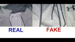 Real vs Fake Under Armour zip up jacket. How to spot fake Under Armour hoodies and jackets