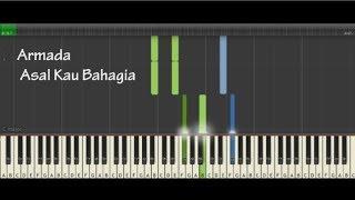 Armada - Asal Kau Bahagia Tutorial Cover (Piano Instrumental)