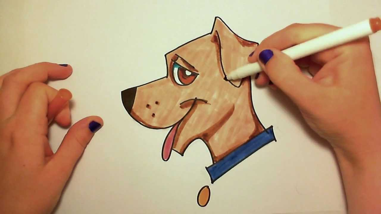 Dog drawing easy cute - photo#22