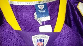 Brett Favre #4 Minnesota Vikings signed 2009 retail authentic home football jersey Reebok