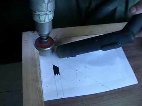 Мини бильярдный стол своими руками Часть 3: Вырезаем лузы
